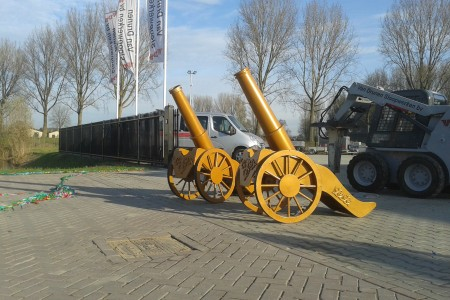 authentiek kanon in Werkendam