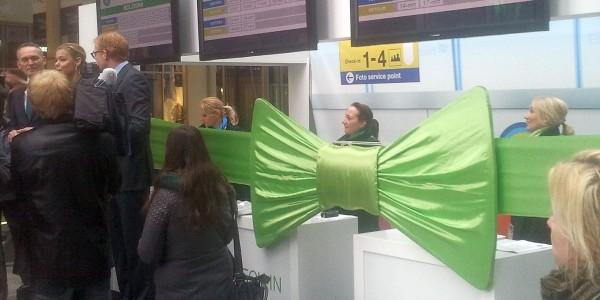 grote groene strik, Transavia, Eindhoven