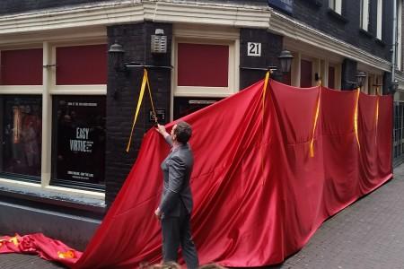 Onthulling Van Gogh Museum pop-up op de wallen